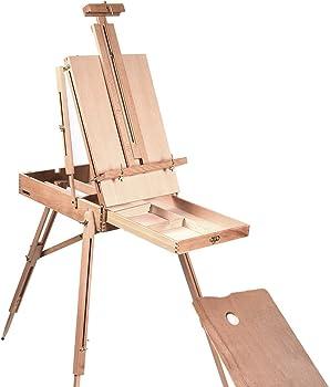 French Easel Wooden Sketch Box Portable Folding Tripod