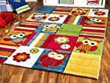 Kinder Teppich Savona Kids Lustige Eulen Bunt in 5 Größen