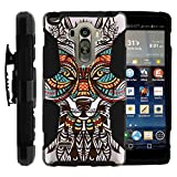 LG Stylo Case, Belt Clip, Full Protection Hybrid Armor Reloaded w/ Kickstand - Artistic Tribal Patterns - for LG G Stylo, G4 Stylus LS770, H631, MS631 by MINITURTLE - Fox Art Drawing