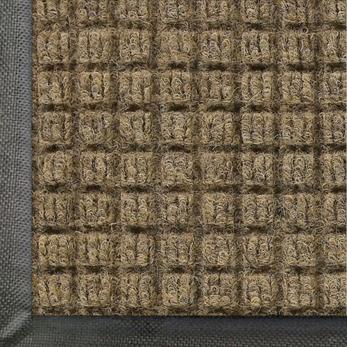 "Andersen 200 Waterhog Classic Polypropylene Fiber Entrance Indoor/Outdoor Floor Mat, Sbr Rubber Backing, 3' Length X 2' Width, 3/8"" Thick, Camel front-504157"