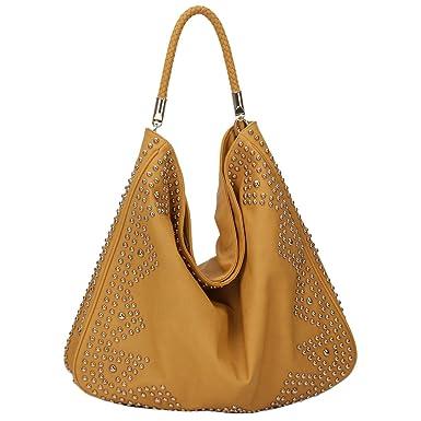 Brown Studded Shoulder Bag 80