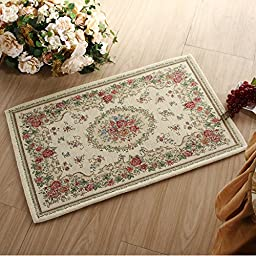 XH@G Carpet bath mat floor mats carpet kitchen absorbent pad , shallow rice , 50*80cm