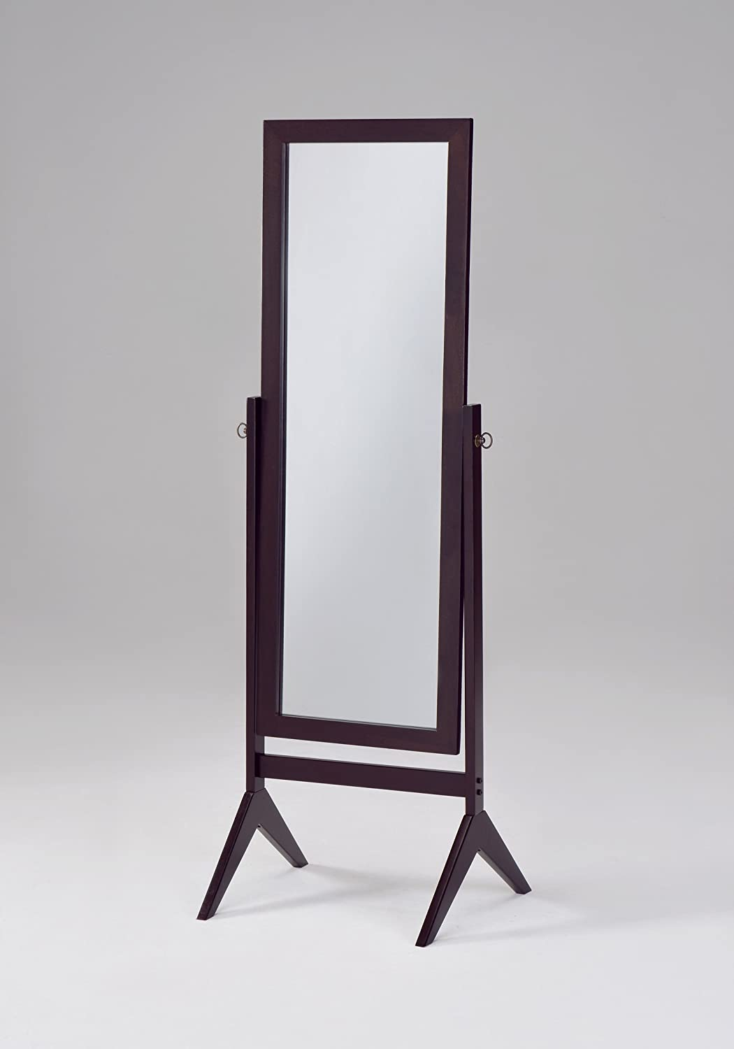 Floor dressing mirror full length body cheval tilt free for Full length mirror black frame