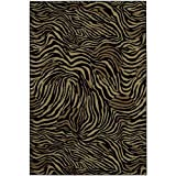 Shaw Living Accents 7-Foot 9-Inch by 10-Foot 10-Inch Rug in Zimbabwe, Ebony