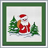 Luca-S 1-Piece Santa Claus Counted Cross Stitch Kit