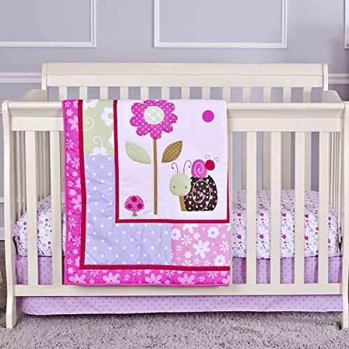 Dream On Me 3 Piece Crib Bedding Set, Spring Time - 1