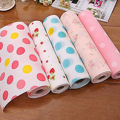Kontakt Papier Farben-Punkt-Schublade Liner Mat KŸche Tischset Regal Schreibtisch Kabinett Pad Regal Papierkassette