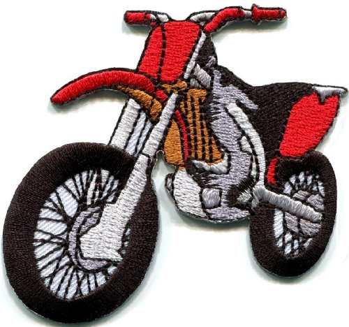 Motorcycle-Motocross-Racing-Dirt-Bike-Off-road-Applique-Iron-on-Patch-New-S-679-Best-Seller-Good-Quality-From-Thailand