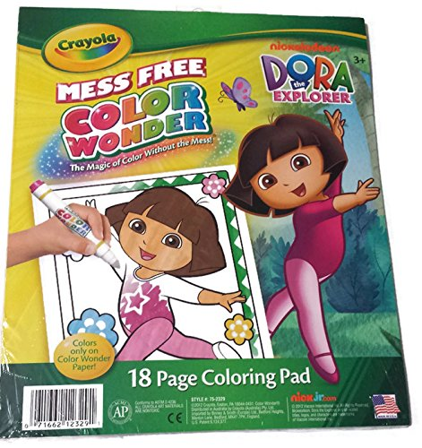 Crayola Color Wonder Nickelodeon Dora the Explorer 18 Page Coloring Pad beibehang 3d european modern minimalist vertical stripes non woven wallpaper shop for living room bedroom tv backdrop