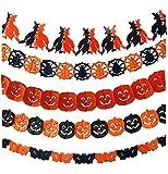 ハロウィン Halloween ガーランド 提灯 カボチャお面 デコレーション パーティー イベント 壁 飾り ランタン 装飾 衣装 仮装 (9) (ガーランド5種)