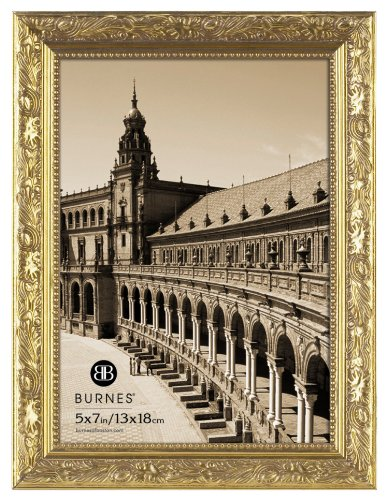 Burnes of Boston 266457 Windsor Leaves Picture Frame, 5-Inch by 7-Inch, Gold (Burnes Of Boston Picture Frames compare prices)