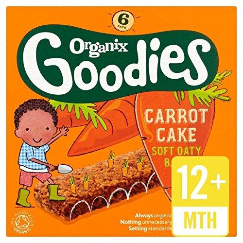 Organix Goodies Barre De Céréales De Gâteau Aux Carottes Bio 6 X 30G
