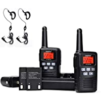 2 Pack Juentai Jp-350 Pro 2 Way Radios Walkie Talkies With Earpieces 22-Channel FRS/GMRS Range 2.5-Mile 400 MHz-470 MHz Mini Handheld Transceiver