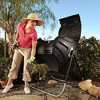 Lifetime 60058 Compost Tumbler, Black, 80-Gallon