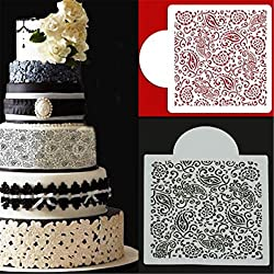 LussoLiv Flower Fondant Side Cake Mold Border Stencil Decorating Sugarcraft Baking Tools