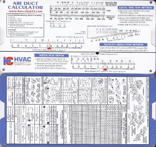 Air Duct Sizing Calculator (Super Cool Slide Rule compare prices)