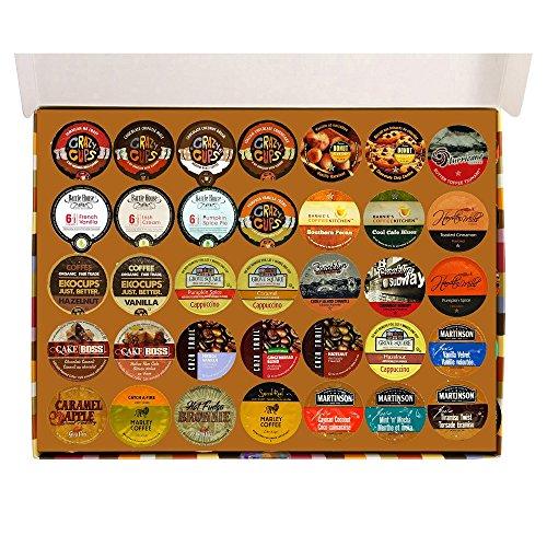 Crazy Cups Keurig K-Cups Flavored Coffee Sampler Pack, 35 ...