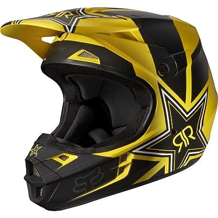 FOX - Casque moto cross Fox V1 ROCKSTAR 2014 - Taille: L - Couleur: Noir/jaune