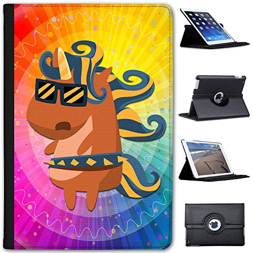 rock-superstar-popstar-unicorn-in-shades-faux-leather-case-cover-folio-for-the-apple-ipad-mini-ipad-
