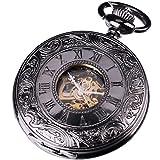 AMPM24 Mens Elegant Design Analog Mechanical Pocket Watch Gift