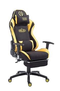 Racing–Silla de oficina Drift plástico con reposapiés negro/amarillo