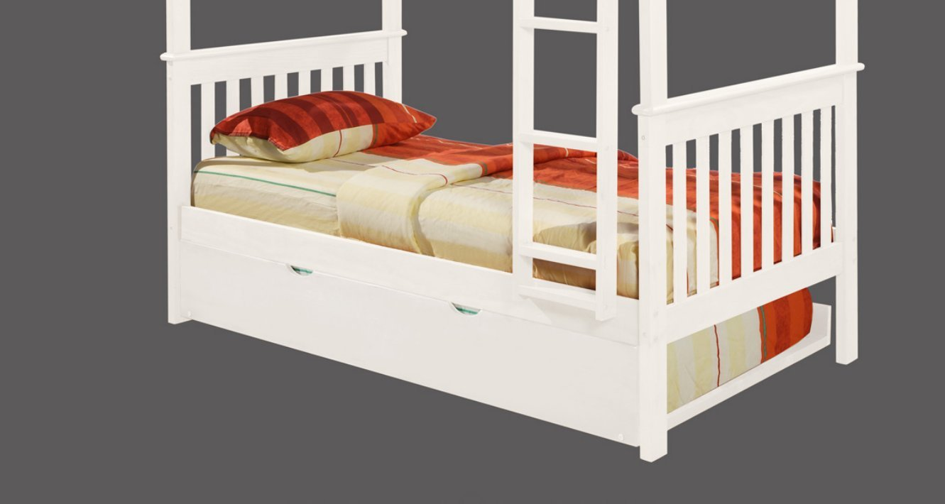 Twin Trundle Bed - White