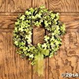 St. Pat's Shamrock Floral Wreath - Home & St Patrick's Day Decor