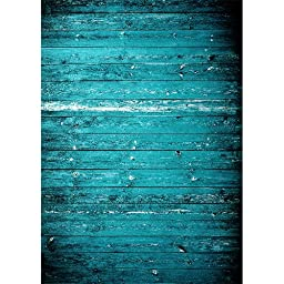 Photography Weathered Faux Wood Floor Drop Background Mat CF1499-4x8 Rubber Backing, 4\'x8\' High Quality Printing, Roll up for Easy Storage Photo Prop Carpet Mat