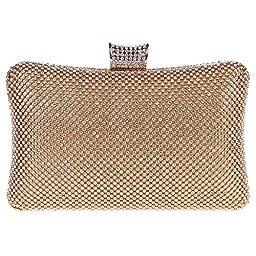 Fawziya Big Evening Bags For Women Rhinestone Crystal Clutch Bag-Gold