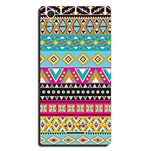 Mozine Aztec Pinky Blue Pattern printed mobile back cover for Sony Xperia T3