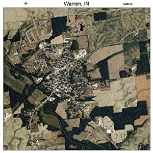 Aerial Photography Map of Warren, Indiana