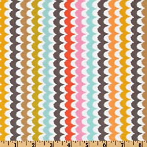 Michael Miller Sorbet Spa Scallop Coral Fabric