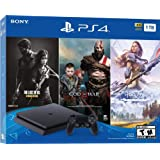 PlayStation 4 Slim 1TB Only on PlayStation Console Bundle | Bundle : God of War Game Voucher,Horizon Zero Dawn: Complete Edition Voucher,The Last of Us Remastered Game | Jet Black (Color: Jet Black)