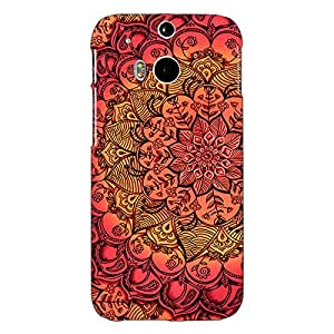Jugaaduu Red DayDream Pattern Back Cover Case For HTC One M8 Eye