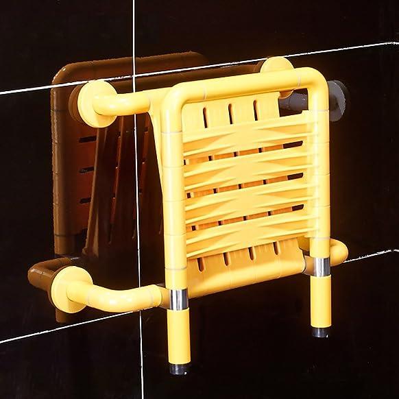 Sgabello da bagno in acciaio inossidabile Prendete una doccia Sedia antisdrucciolevole con schienale in sella by DRM