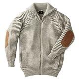 カーディガン セーター メンズ レディース 英国製 羊毛 ウール パークレインジャーブルゾン ベージュ 62804 イギリス製