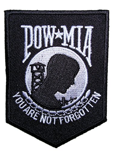 Leather Supreme POW-MIA You Are Not Forgotten Shield Embroidered Biker Patch