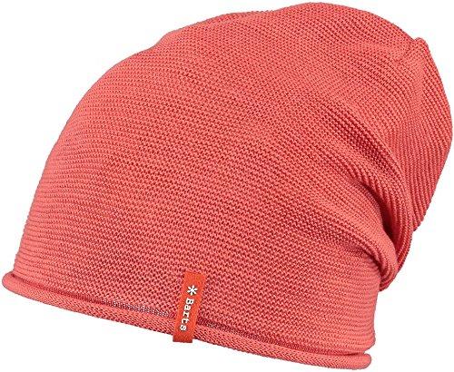 Barts - Caiman Beanie, Cappello unisex, rosso corallo, UNI