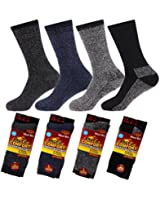 NEW 4 pairs Mens Arctic Comfort ® Thick Thermal Wool Socks High Tog Rating UK Size 6-11 EUR size 39-45