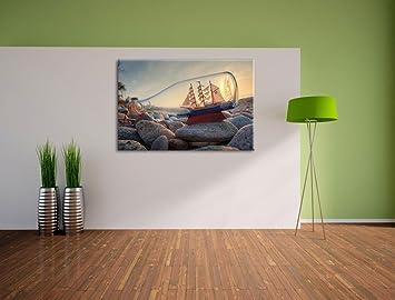 Bouteille avec la peinture peinture du navire sur for Cuisine xxl allemagne