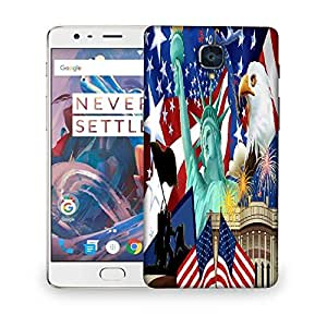 Snoogg America Wallpaper Designer Protective Phone Back Case Cover For OnePlus 3