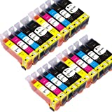 PGI525 CLI526 20 ColourDirect Cartouche D'encres Pour CANON PIXMA IP4850 IP4950 MG5150 MG5250 MG5350 MG6150 MG6220 MG6250 MG8150 MG8220 MG8250 MX715 MX885 IX6550 imprimeur