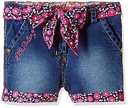 Little Kangaroos Girls' Shorts (Pack of 2) (11560_Light Blue_3 year)
