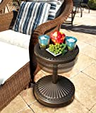 O2COOL Adjustable Pool & Patio Table, Bronze
