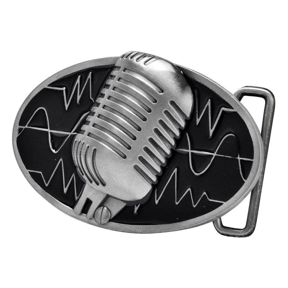Buckle Rage Adult Unisex Retro Vintage Microphone Sound Wave Belt Buckle 0