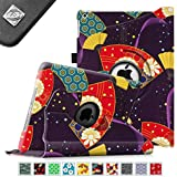 Fintie Apple iPad Air Case - 360 Degree Rotating Stand Case Cover with Auto Sleep / Wake Feature for iPad Air / iPad 5 (5th Generation) - Floral Fan Purple