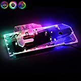 Bykski GPU Copper RBW LED Water Cooling Block for Founder Edition AMD Radeon RX5700XT 5700