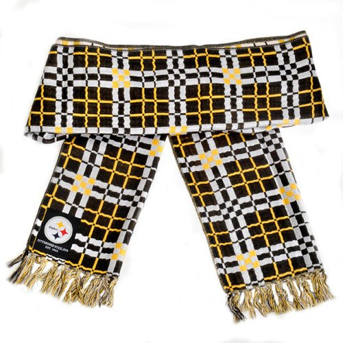 Pittsburgh Steelers Checkered Scarf at SteelerMania