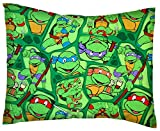 SheetWorld Crib / Toddler Percale Baby Pillow Case - Ninja Turtles - Made In USA