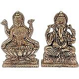 Antique Look Lord Laxmi Ganesha Statue Hindu Goddess Laxmi And God Ganesh Handicraft Idol Diwali Decorative Spiritual...